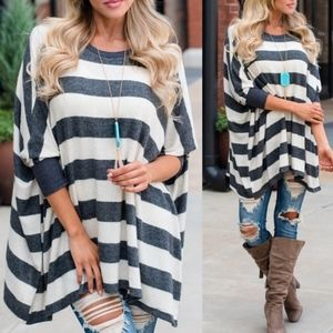 CANDACE Striped Loose Fit Top